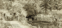 """""""This dam was placed across the Granta to turn the water into the moat made by Palivicini."""" From A Record of Shelford Parva by Fanny Wale P76"""