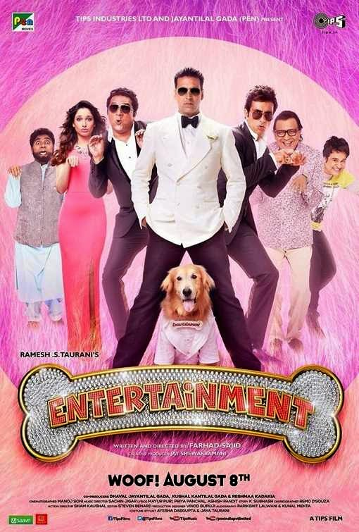 Poster Of Hindi Movie It's Entertainment (2014) Free Download Full New Hindi Movie Watch Online At alldownloads4u.com