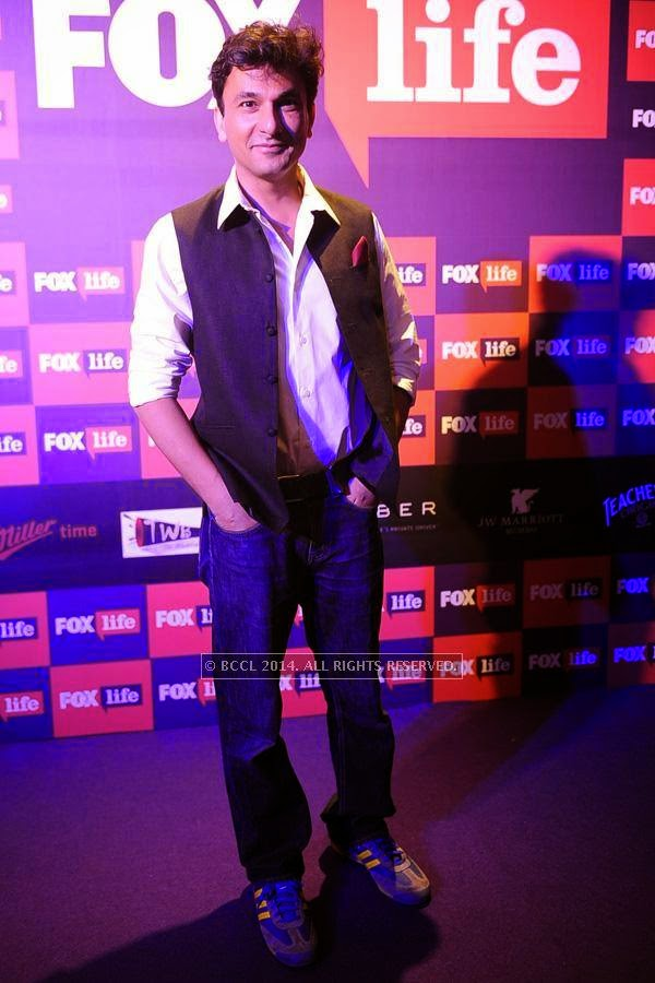 Vikas Khanna during the launch of FOX Traveller's new television channel FOX Life, in Mumbai, on July 16, 2014.