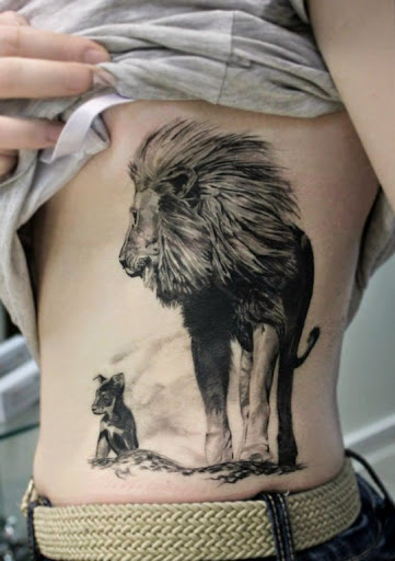 55 brilliant lion tattoos designs and ideas for Lion and cub tattoo
