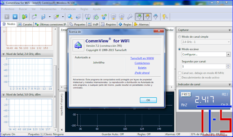 CommView for WiFi 7.1.795 + Medicina - Descargar - DescargarZ.com