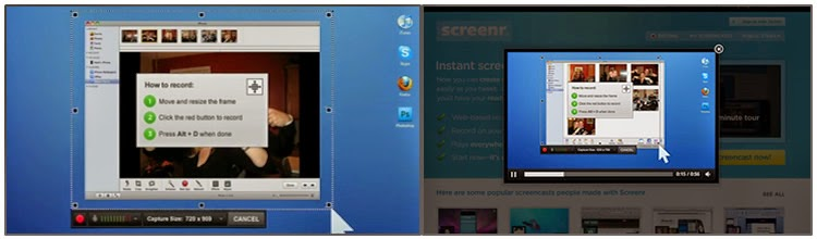 Screenr screen recording software