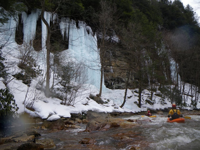 There were a couple obligatory--and cold-- North Fork of the Blackwater Runs Jan-March