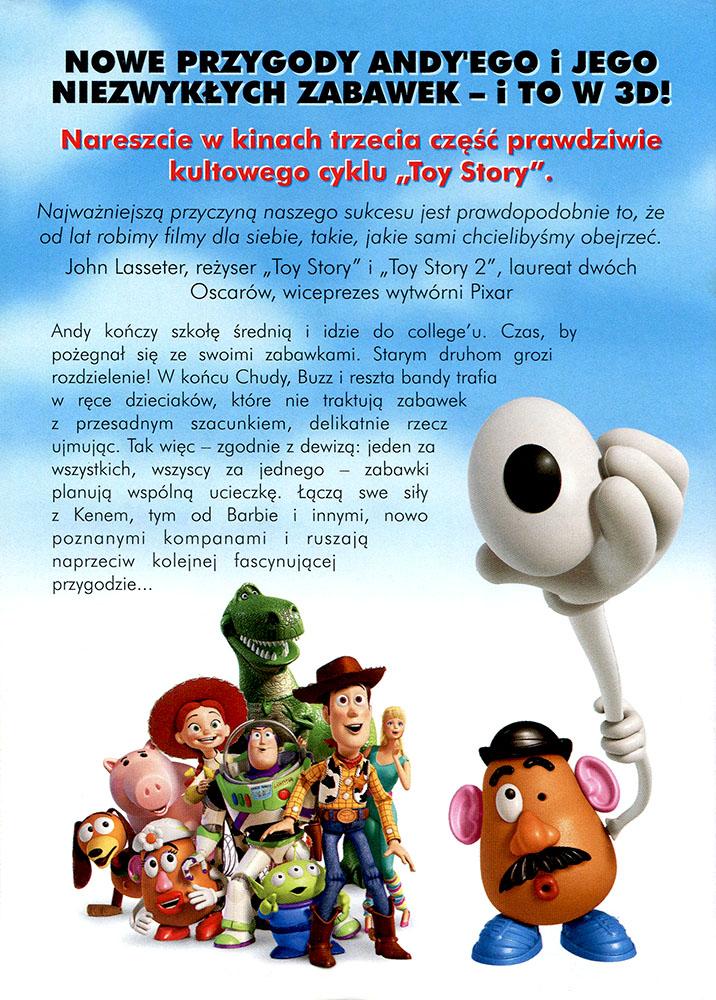 Ulotka filmu 'Toy Story 3 (tył)'