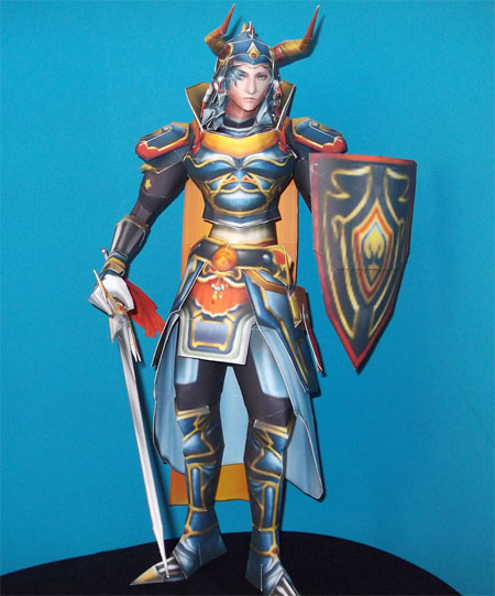 Dissidia Final Fantasy Warrior of Light Papercraft