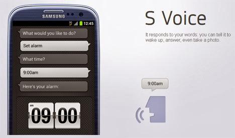 Fitur Canggih S voice Samsung Mega