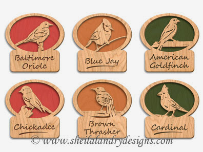 SLDK367 Songbird Mini-Plaques Set 1 by Keith Fenton