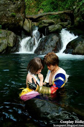 final fantasy x cosplay - yuna and tidus