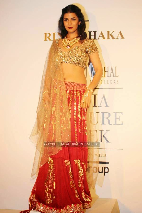 Nimrat Kaur during the India Couture Week, 2014, held at Taj Palace, in New Delhi.