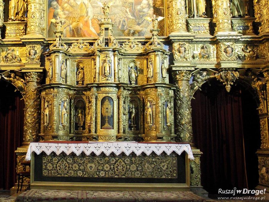 Katedra w Pelplinie - relikwiarz w Ołtarzu Głównym