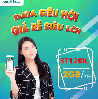 Nhận Miễn phí đến 60GB Gói ST120K Viettel