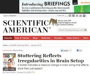 Заикание указывает на изменения в нейронах