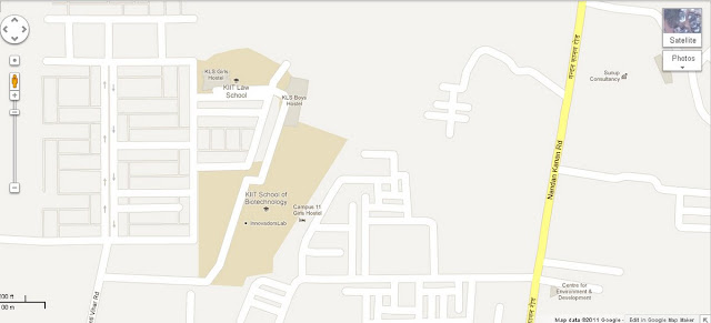 KIIT Law School And KIIT School Biotechnology Campus Area Map Bhubaneswar