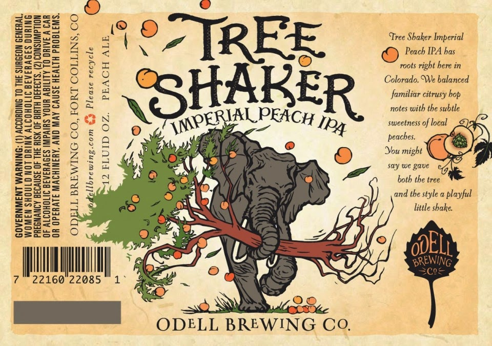 image of Odell Tree Shaker Imperial Peach IPA