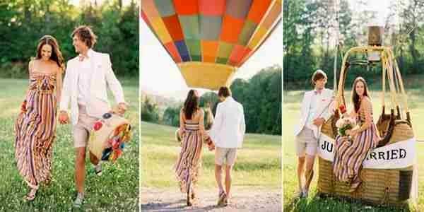 Paseo romántico en globo como idea para san valentin