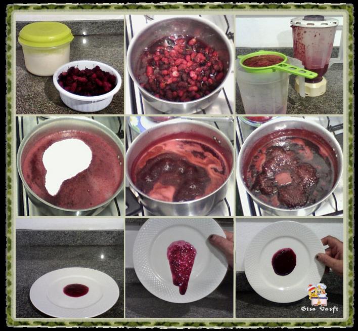 Geleia e calda de frutas vermelhas 3