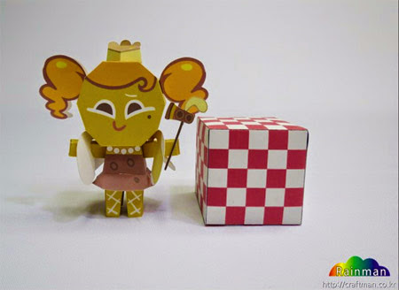 Cheesecake Cookie Papercraft