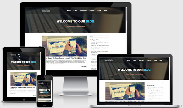 Exelixis3 beautiful free personal blogspot template