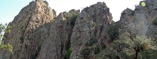La brèche de Porta a Paola versant Ouest
