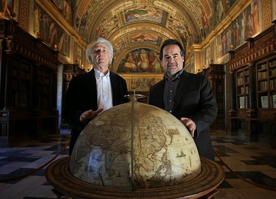 Presentación Don Carlo en Monasterio de El Escorial con José Bros, tenor y Albert Boadella. ©Jaime Villanueva