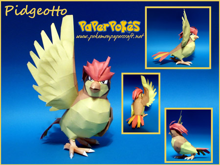 Pokemon Pidgeotto Papercraft