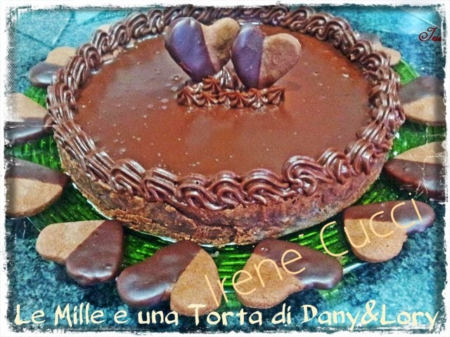 crostata farcita con ganache al cioccolato
