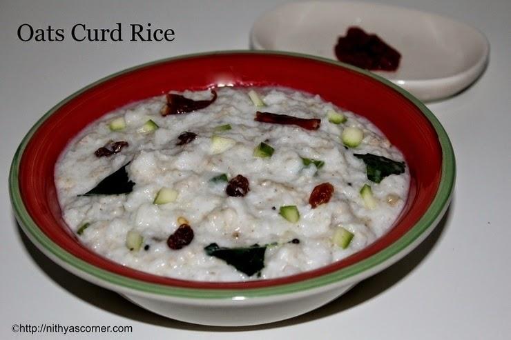 Oats curd rice recipe