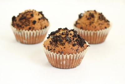 photo of three oreo muffins