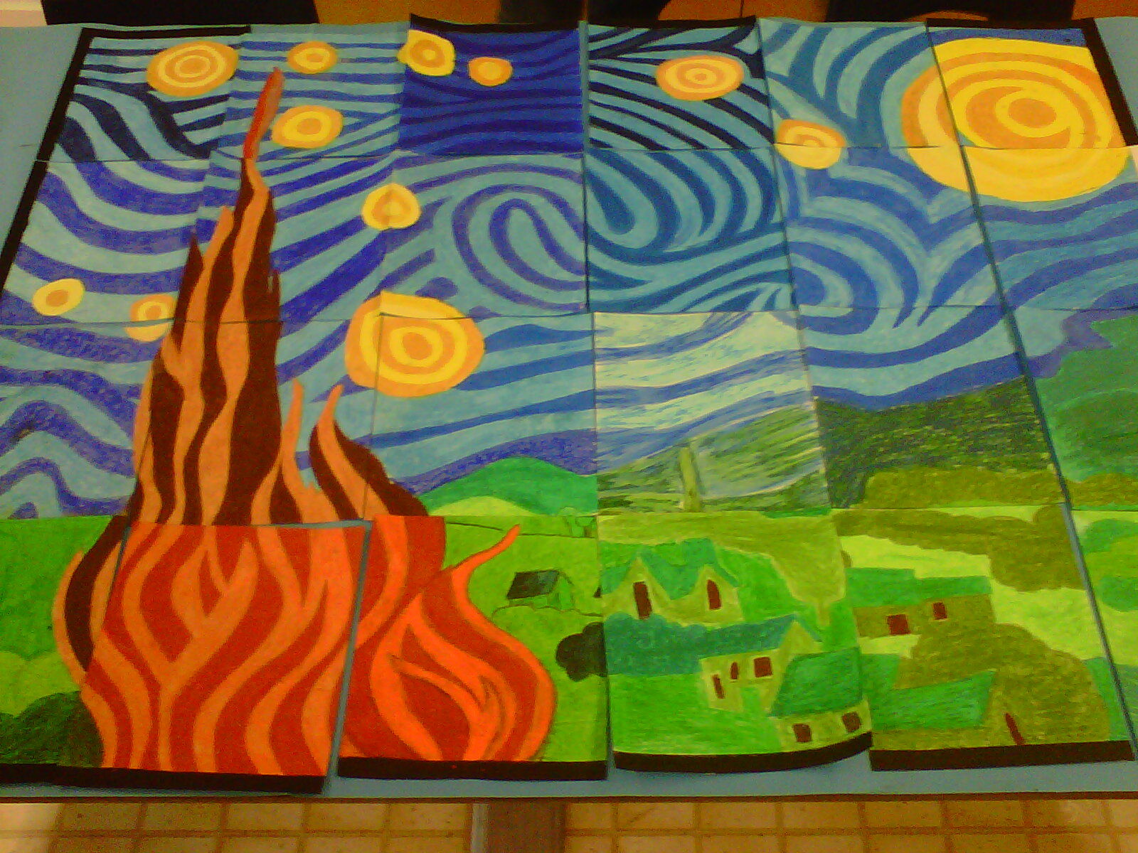 Collaborative Classroom Art Project : Alternate ideas collaborative art project