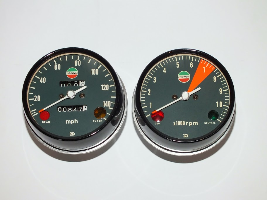 Laverda gauge restoration CB750faces.com