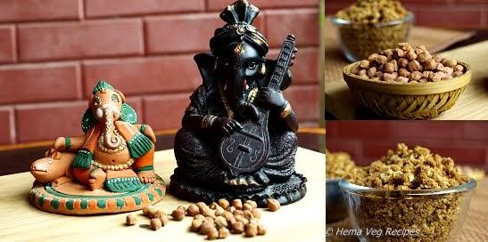 Kadale Kalu Panchakajjaya or Chickpeas Prasadam