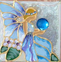 Decorative fantasy blue fairy