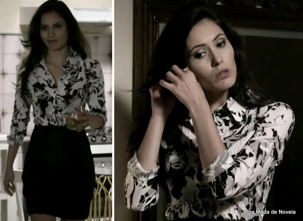 moda da novela Império, look da Carmen dia 24 de janeiro de 2015