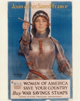 Joan of Arc War Saving Stamps Poster