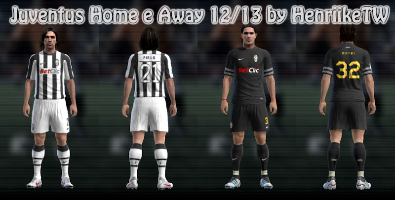 Juventus 12-13 Player Kits - PES 2012