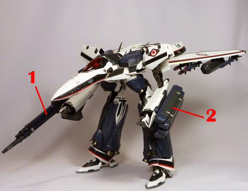 Macross Frontier VF-171 Armored Nightmare Plus Armament weapon position