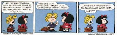 Clube da Mafalda:  Tirinha 717