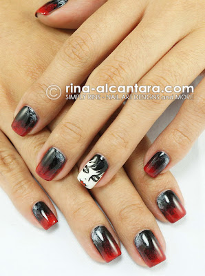 Dark Shadows Nail Art by Simply Rins