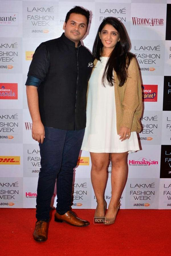 Fashion designers Sanam and Paras Modi during Lakme Fashion Week curtain-raiser, held in Mumbai, on July 28, 2014. (Pic: Viral Bhayani)