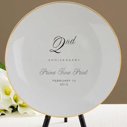 Plates personalized at Prime Time