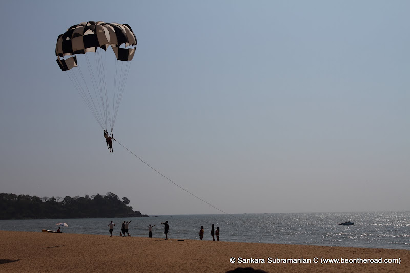 Parasailing at Rajabaga Beach - 1
