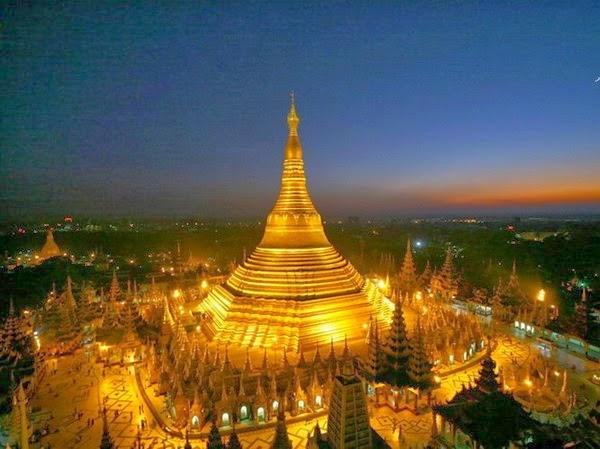 Chùa Shwedagon – Ngôi chùa dát 60 tấn vàng