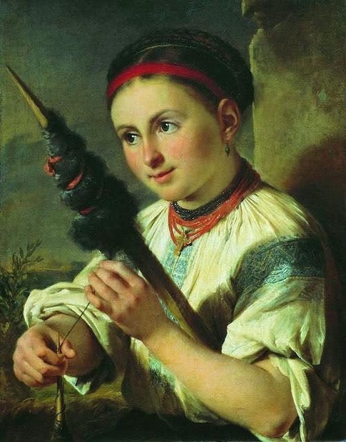 Vasily Tropinin - A Spinner