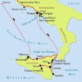 Süditalien, Rundreise, Heideker Reisen, www.heideker.de, Italien, Amalfiküste, Kampanien, Sizilien