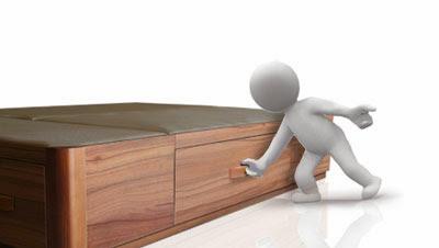 cama canap� de madera con cajones