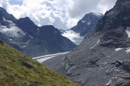 Le haut glacier d'Arolla et le mont Brûlé