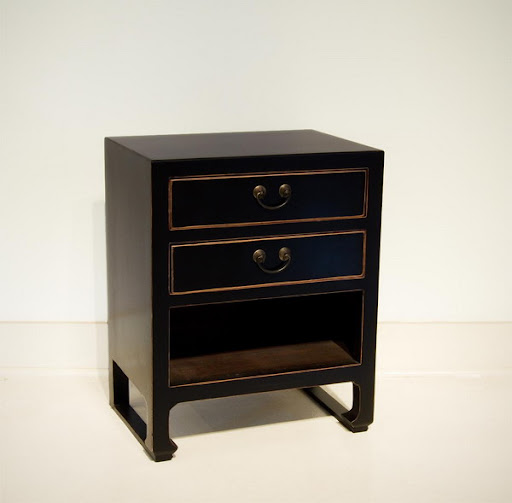 black drawer lacquer finish furniture
