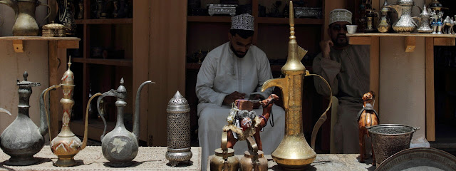 Traditional Souvenirs for sale at Nizwa Souk, Oman