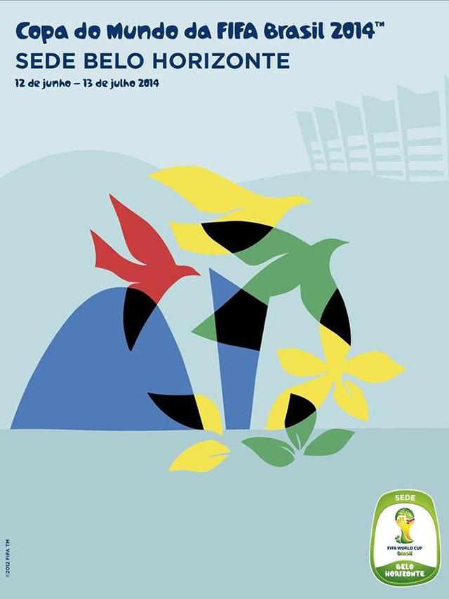 Cartaz Belo Horizonte sede Copa do Mundo