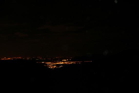 Ruta nocturna de Segovia a Madrid bajo la luz de la luna. Septiembre 2012